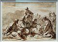 Sebastiano ricci, disegni dell'album, 1706-1725 ca. (venezia, accademia) 03 cristo tra gli apostoli.jpg