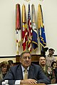 Secretary of Defense Leon E. Panetta, left, pauses during his testimony to the House Armed Services Committee at the House of Representatives in Washington, D.C., Oct. 13, 2011 111013-D-BW835-009.jpg