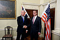 Secretary of defense poses for a photo with Secretary of State for Defense Michael Fallon 151009-D-LN567-084.jpg