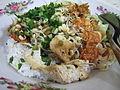 """Sega Lengko (""""Nasi Lengko""""), nasi vegetarian dengan tahu dan tauge"""