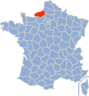 Communes of the Seine-Maritime department - Image: Seine Maritime Position