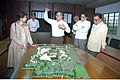 Selja Inspecting Science City Model - Science City Site Office - Calcutta 1994-02-17 173.JPG