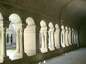 Abbey - The cloister of Sénanque Abbey