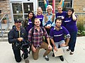 Sept. 12, 2015 -- the Leadnow team with David Suzuki, about to hit the streets in London North Centre (21174828168).jpg