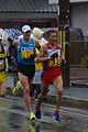 Ser-Od Bat-Ochir and Daniele Meucci at the 2015 Lake Biwa Marathon.jpg