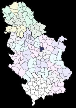 mapa srbije svilajnac Opština Svilajnac — Vikipedija, slobodna enciklopedija mapa srbije svilajnac