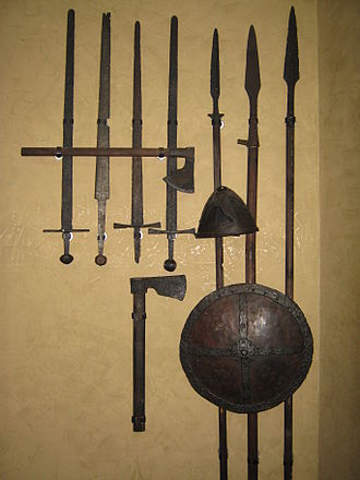 Military history of Serbia - Image: Serbian medieval army equipment