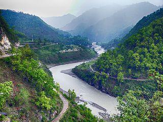 Sharda River River along the India–Nepal border