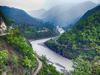 Sharda River - Sharda River near Jauljibi