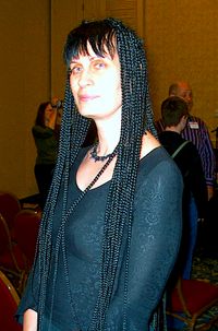 Shariann Lewitt at Readercon, July 2007