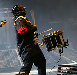 Shawn Crahan in concerto con gli Slipknot