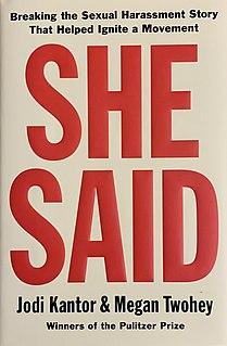 <i>She Said</i> (book)