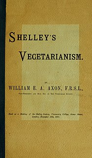 <i>Shelleys Vegetarianism</i> 1891 pamphlet on the diet of Percy Shelley