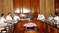 Shivraj V. Patil and the Union Minister of Mines, Shri Sis Ram Ola at a meeting with the Chief Ministers of Orissa, Karnataka, Chhattisgarh, Rajasthan & Jharkhand on draft national Mineral Policy, 2007, in New Delhi.jpg