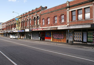 Colombo Street - Former shops in Colombo Street, Sydenham; all demolished since the earthquakes