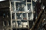 Shot of the exposed wreckage after the smoke cleared from a hijacked jetliner which crashed into the Pentagon at approximately 0930 on September 11, 2001 010911-M-CI426-086.jpg