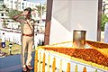 Shri T Yoganand Commissioner of Police paying homage to martyrs at War Memorial Visakhapatnam.jpg
