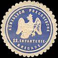 Siegelmarke Königlich - Preussische 11. Infanterie - Brigade W0210178.jpg