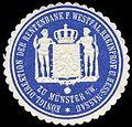Siegelmarke Königliche Direktion der Rentenbank für Westf. Rheinprovinz und Hess. - Nassau zu Münster in Westfalen W0234902.jpg