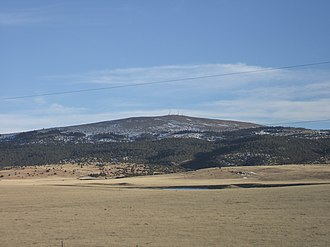 Sierra Grande - Sierra Grande as seen from the north along US Highways 64 and 87