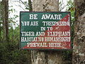 Sign in Pakke Tiger Reserve (7210563676).jpg