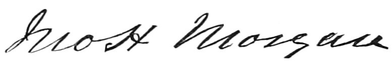 Signature of John Hunt Morgan