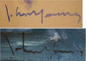 John Chin Young - John Young's signature, 1980
