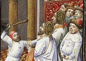 Simon and Jude martyred; ms. circa 1455.
