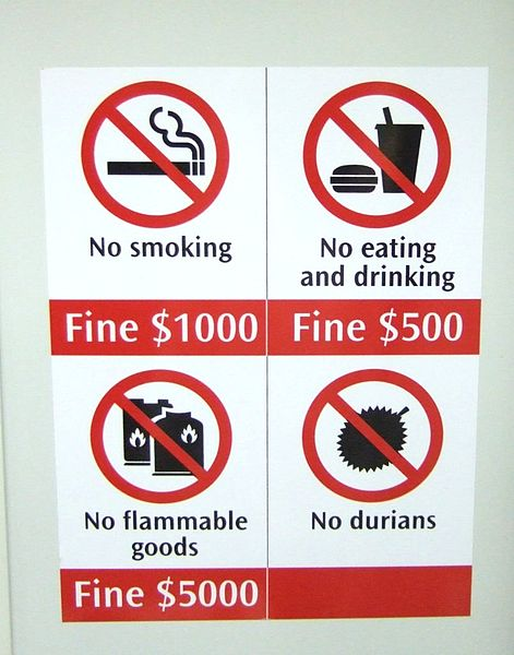 No durians!