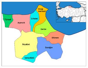 Boyabat - Image: Sinop districts