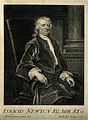 Sir Isaac Newton. Line engraving by G. Vertue, 1726, after J Wellcome V0004266.jpg