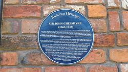 Sir john chesshyre plaque