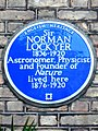 Sir NORMAN LOCKYER 1836-1920 Astronomer Physicist and Founder of Nature lived here 1876-1920.jpg