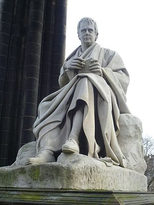 English: Sir Walter Scott statue by Sir John S...