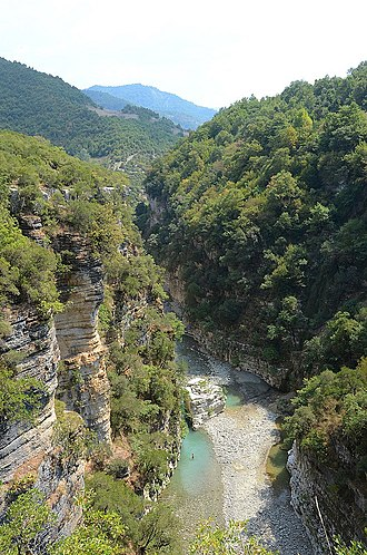 Berat County - The Osum Canyon is thought to have been formed 3 million years ago by water erosion.