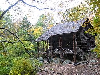 Slabsides, Burroughs's cabin in West Park, NY,...