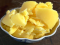 Sliced clarified butter.png