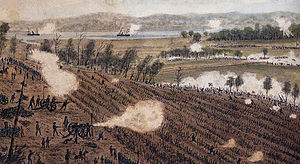 Battle of Malvern Hill - A watercolor of the Battle of Malvern Hill by Robert Sneden