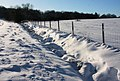 Snow drifts near Lownde Wood - geograph.org.uk - 1628828.jpg