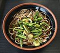 Soba topped with wild plants of Japanese National Diet Library.jpg