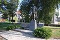 Socha Petra Bezruče - boční pohled, Kostelec na Hané, okres Prostějov.jpg
