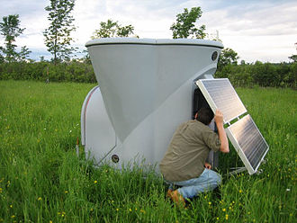 Wind profiler - The TRITON transportable SODAR system used to measure wind profiles from  Second Wind.
