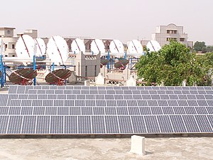 Solar power plant at Om Shanti Retreat Centre,...