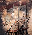 Soldiers of the Guard of Honour. Tomb of Princess Changle (长乐公主墓), Zhao Mausoleum, Shaanxi province. Tang Zhenguan year 17, ie 644 CE.jpg