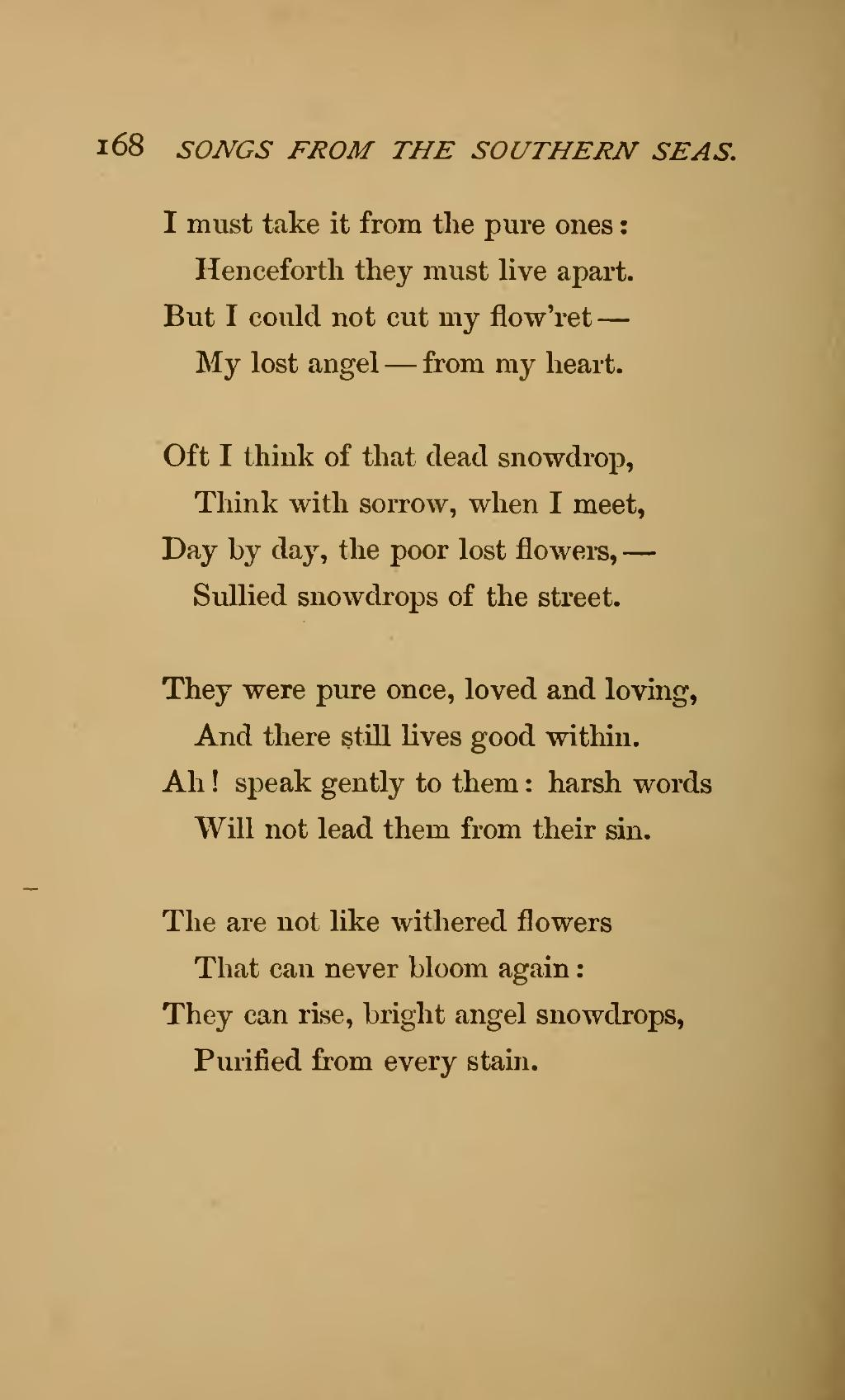 Pagesongs From The Southern Seas And Other Poems 1873