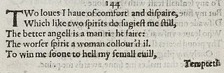 Sonnet 144 poem by William Shakespeare