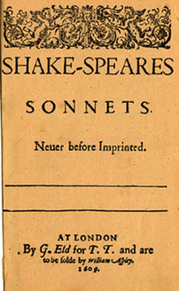 Title page from the 1609 edition of SHAKE-SPEA...