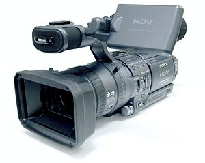 Camcorder - Image: Sony HDR FX1E 20050423