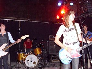 The Soviettes - The Soviettes playing a reunion show in 2010. Left to right: Susy, Danny, Annie, Sturgeon.
