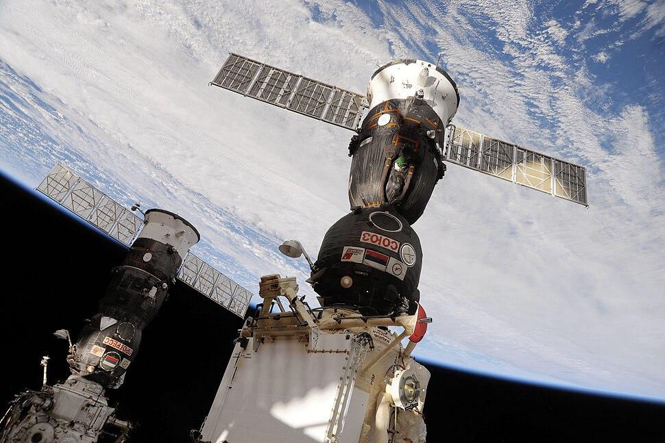 Soyuz TMA-19 docked to the Rassvet Mini-Research Module
